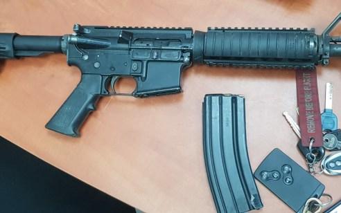 """בלשי המשטרה עצרו """"על חם"""" חשוד אשר ביצע ירי מנשק מסוג m-16 בחתונה בכפר טובא זנגרייה"""