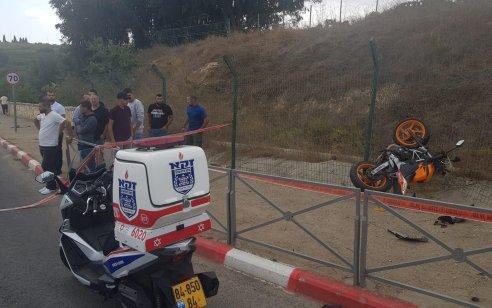 הרוג ושלושה פצועים בתאונה בין רכב לאופנוע בירושלים