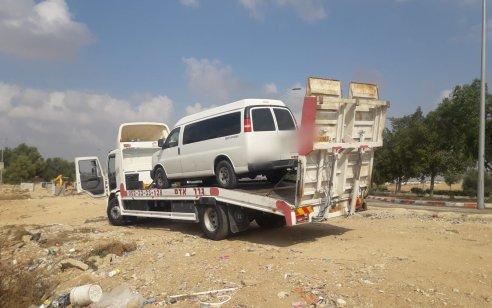 נוהג ללא רישיון מתאים לסוג הרכב ופסול לנהיגה נתפס בעיר רהט