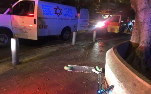 רוכב קורקינט בן 30 נפגע מרכב בתל אביב – מצבו קשה