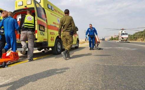 שני גברים בני 27 נפצעו בינוני בפיצוץ מחסן זיקוקי דינור בבקעתהירדן