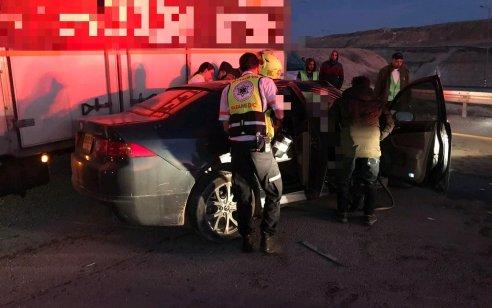 פצוע קשה וקל בתאונה חזיתית בין משאית לרכב בכביש 31 סמוך ליציאה מכסיפה