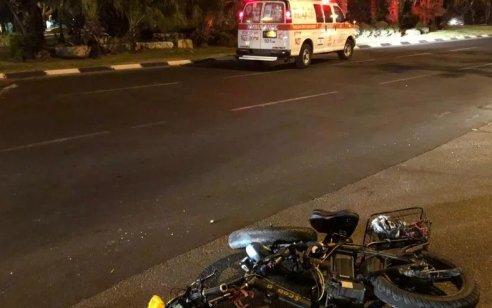 נער כבן 15 שרכב על אופניים חשמליים נפצע בינוני בתאונה בראשון לציון