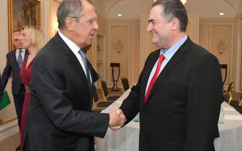 """שר החוץ ישראל כ״ץ נועד עם שר החוץ הרוסי לברוב ברומא: """"דנו בנושאי איראן וסוריה"""""""