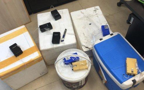 נעצרו 3 חשודים שהחזיקו עשרות פריטים של ערכי טבע מוגנים שעל פי חשד המשטרה נגנבו מהים האדום באילת