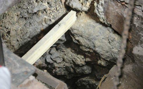 """תעלה מימי הבית השני התגלתה בסמוך ל """"חדר החשמונאים"""" שבמעבה המנהרות בכותל המערבי"""