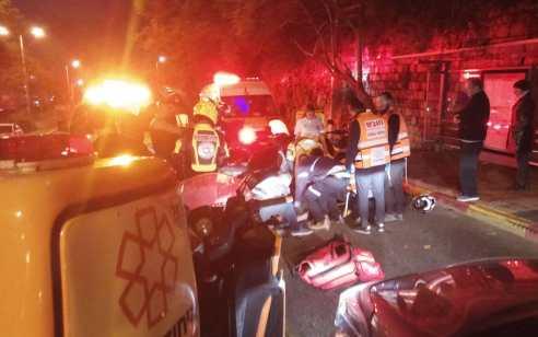 שליח פיצה בן 18 נפצע בינוני בתאונה בחיפה