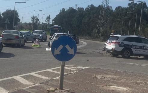 אישה בת 62 נפצעה בינוני ושניים קל בתאונה בכביש 5812 סמוך לאליכין