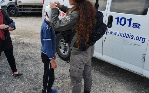 ילד בן 10 נפצע מאבן שהושלכה לעבר כוחות המשטרה בעיסאוויה