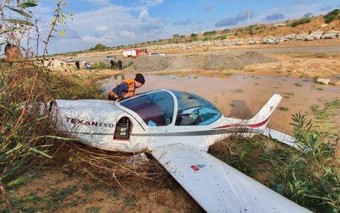 טייס בן 68 נפצע קל עד בינוני כשמטוסו התרסק במנחת בראשון לציון