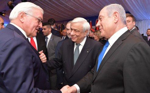 ראש הממשלה בנימין נתניהו נפגש עם עשרות מנהיגים בארוחת הערב בבית הנשיא