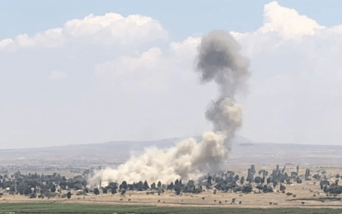 """דיווח בסוריה: הרוג בתקיפה מל""""ט ישראלי באזור קוניטרה"""