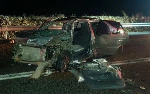 שלושה פצועים בינוני בהתהפכות רכב בכביש 89 מצומת מעילא לכיוון מעלות