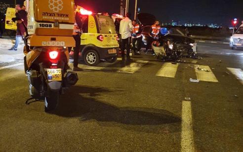 גבר כבן 35 נפצע בינוני ושלושה קל בתאונה סמוך לצומת חסידים