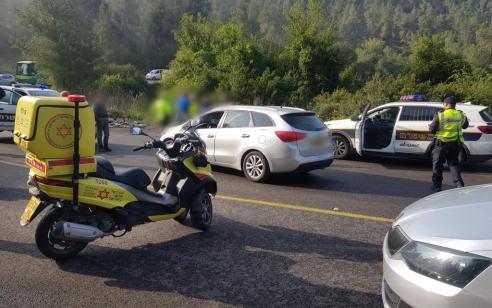 חשד לפגע וברח סמוך לירושלים: רוכב אופניים נמצא במצב אנוש על כביש 395