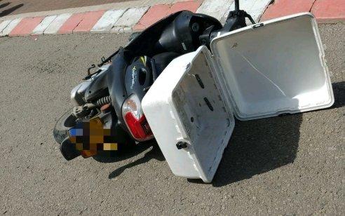 רוכב קטנוע כבן 30 נפצע בינוני בתאונה בטירת כרמל