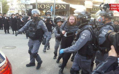 מאה שערים: שוטרים הגיעו לאכוף את צו הקורונה ונתקלו באלימות קשה  – 3 חשודים נעצרו | תיעוד