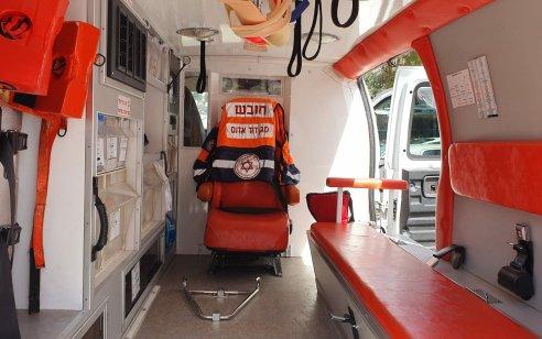 """לראשונה בישראל: אמבולנס מד""""א עבור חולי קורונה עם הפרדה אטומה בין תא הנהג לתא הנוסעים"""