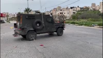 """תיעוד: לוחמי ימ""""מ ומג""""ב עצרו הלילה ברמאללה 2 מחבלים שמעורבים במספר אירועי טרור – והותקפו"""