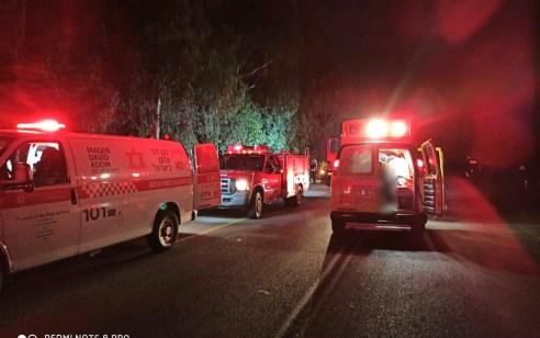 גבר כבן 30 נפצע קשה לאחר שהתהפך עם רכבו לתעלה סמוך לשדמה