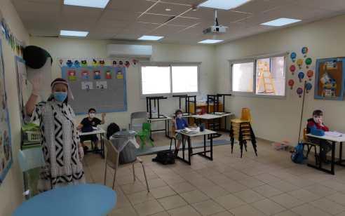 כ-70% מתלמידי החינוך המיוחד השתתפו בשיעורים במוסדות הלימוד היום