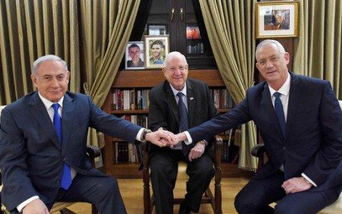 """גנץ לנשיא: """"אצטרך לבקש ממך לאחר הפסח את הארכת המנדט"""""""
