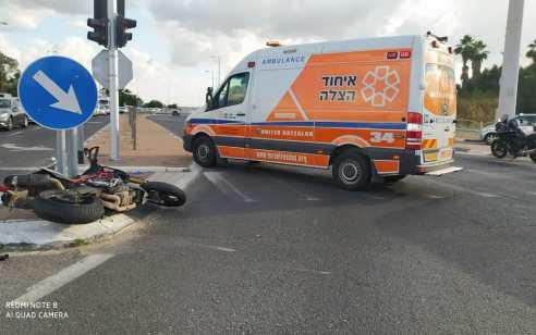 אב ובנו שרכבו על אופנוע נפצעו בינוני וקל בתאונה סמוך ליהוד