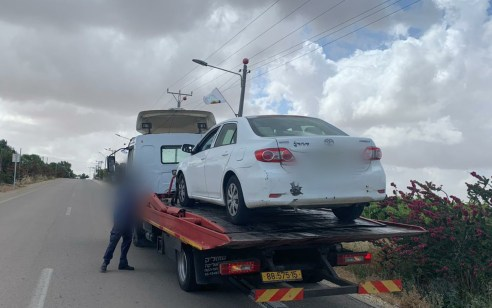 תושב ירושלים נתפס נוהג דקות לאחר שהשוטרים הודיעו לו כי רישיון הנהיגה שלו פסול