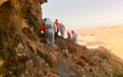 גופת גבר נמצאה במצב ריקבון במורד המצוק במצפה רמון
