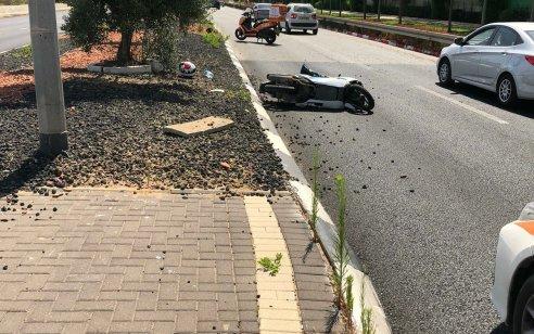 ראשון לציון: רוכב אופנוע כבן 50 החליק ונפצע בינוני