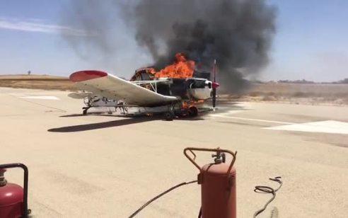 פצוע בינוני בנחיתת חירום של מטוס קל סמוך למנחת שדה תימן