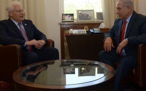 """הקרב על הריבונות: נתניהו נועד עם השליח האמריקני המיוחד ושגריר ארה""""ב בישראל"""