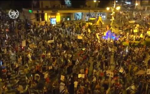 הפגנת השמאל בירושלים: מפגינים התעמתו עם שוטרים – 55 נעצרו