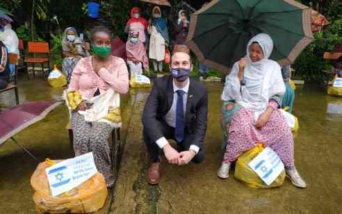 שגרירות ישראל באתיופיה העניקה סיוע הומניטרי ל-250 משפחות באדיס אבבה