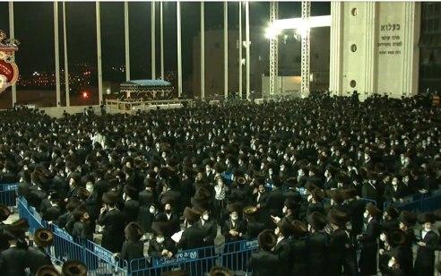 """החתונה ההמונית של נכד האדמו""""ר מבעלז בירושלים: המשטרה פתחה בחקירה פלילית"""
