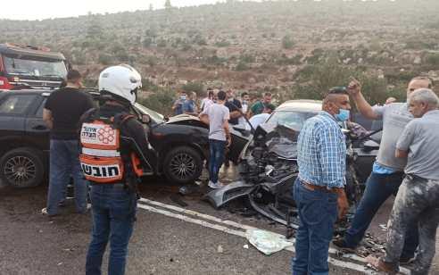 שני הרוגים ושלושה פצועים בתאונה קשה בכביש 60