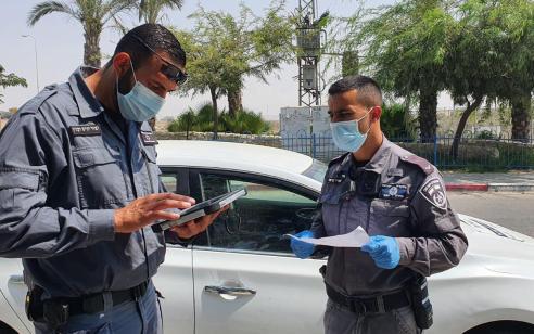 המשטרה: ביממה החולפת ניתנו 1,097 דו״חות מרביתם בגין אי עטיית מסיכה – 35 דו״חות על הפרת חובת הבידוד