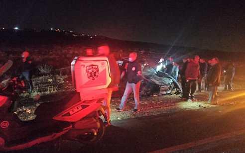 הרוג ושלושה פצועים קל בתאונה בכביש 505 סמוך למגדלים