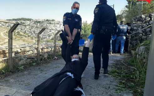 שלושה מפגינים נעצרו במחאת העדה החרדית סמוך לאתר בנייה באזור מלון הר ציון בירושלים