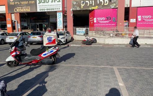 רוכב אופנוע כבן 35 נפצע בתאונה באשדוד – מצבו בינוני