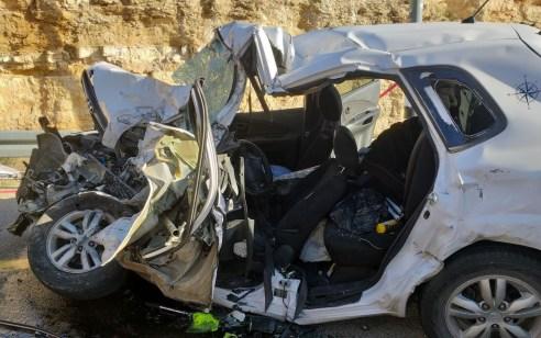 גבר כבן 60 נהרג בתאונה בין משאית לרכב בהר חברון