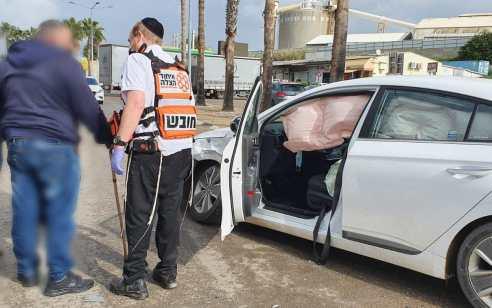 נהג רכב נפצע בתאונה בקרית גת – מצבו בינוני
