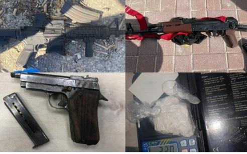 בסיוע סוכן סמוי: נעצרו מעל ל-30 חשודים בעבירות סחר בסמים מסוכנים ובאמצעי לחימה