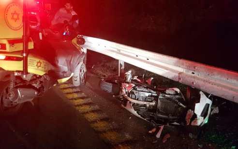 רוכב אופנוע כבן 20 נפצע בתאונה בכביש 375 – מצבו קשה