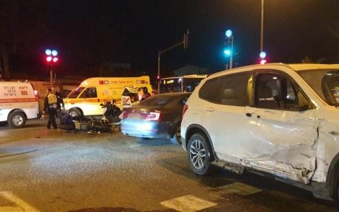 רוכב אופנוע כבן 40 נהרג מפגיעת רכב בתל אביב