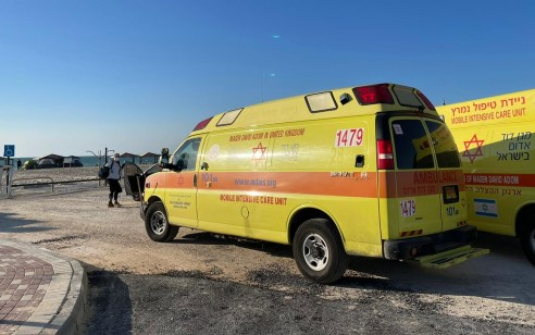 שני נערים נפצעו כתוצאה מפיצוץ בלון גז בחוף ניצנים