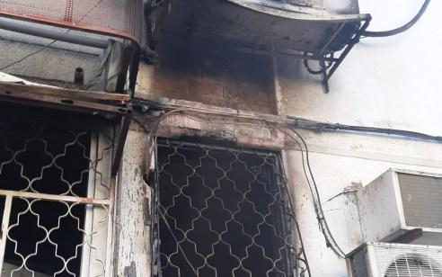 גבר כבן 40 נהרג בשריפת דירה בבניין בקרית גת