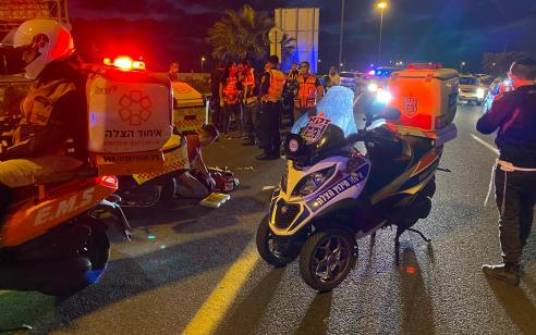 רוכב אופנוע נפצע אנוש בתאונה בכביש 431
