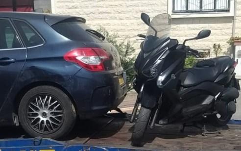 תושב באקה אל גרביה עוכב לחקירה לאחר שהרכיב את בנו בן ה-4 על קטנוע כששניהם ללא קסדה