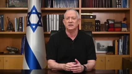"""גנץ: """"צה""""ל מכוון ופוגע במטרות צבאיות- חמאס מכוונת לאזרחים ומתחבאת מאחוריהם"""""""